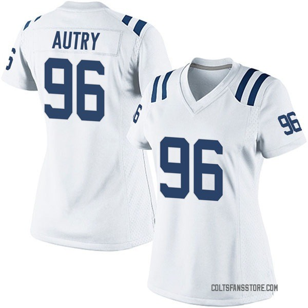 Denico Autry Indianapolis Colts Game White Jersey