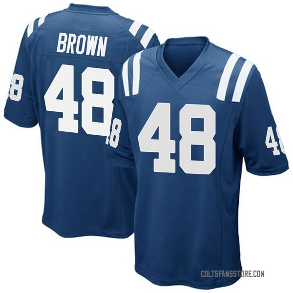 Men's Billy Brown Indianapolis Colts Game Royal Blue Team Color Jersey